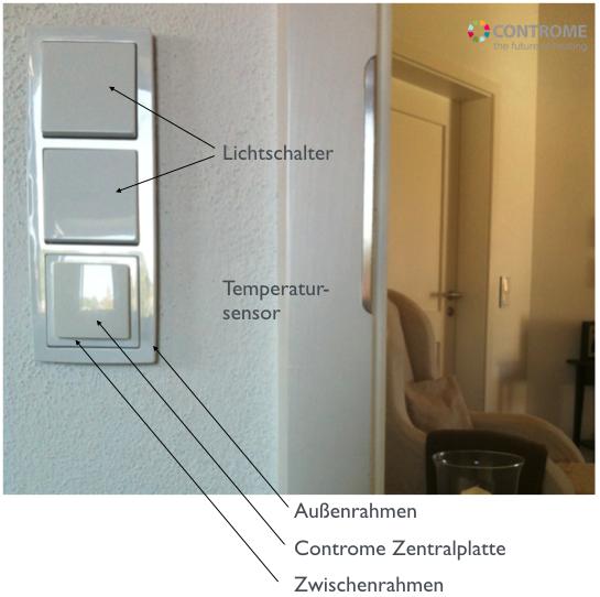 temperatursensor up heizungssteuerung von controme. Black Bedroom Furniture Sets. Home Design Ideas