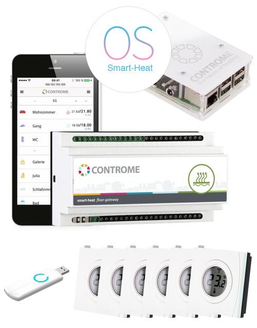 fussbodenheizung steuerung und regelung per app heizungssteuerung von controme. Black Bedroom Furniture Sets. Home Design Ideas