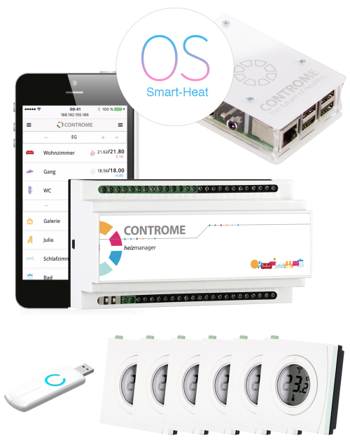 fussbodenheizung steuerung und regelung per app. Black Bedroom Furniture Sets. Home Design Ideas
